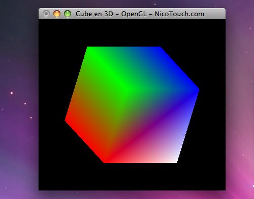 Cube en 3D - OpenGL - Mac OS X